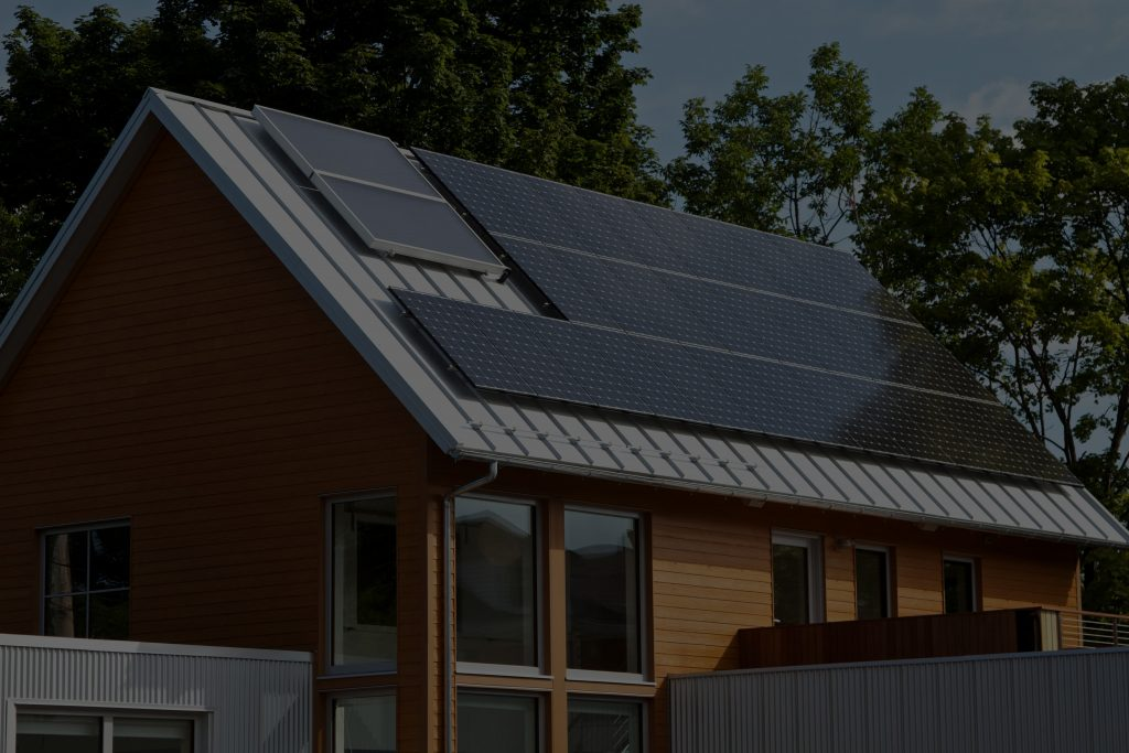 solar panels on residential home in California