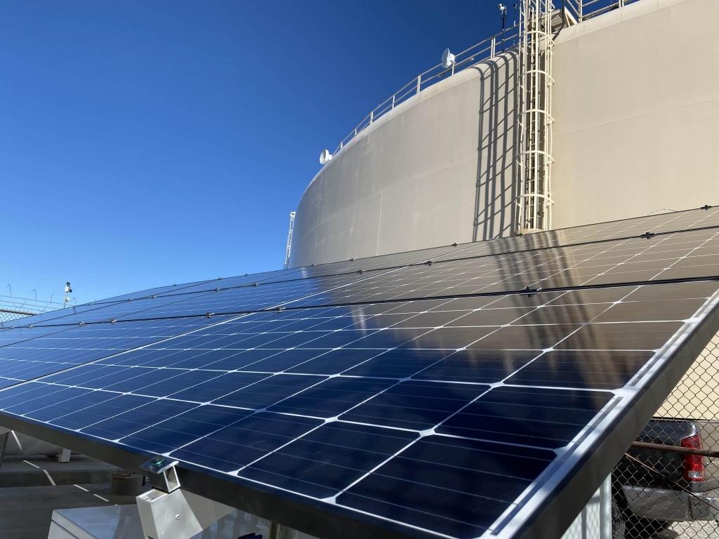 Industrial solar installation